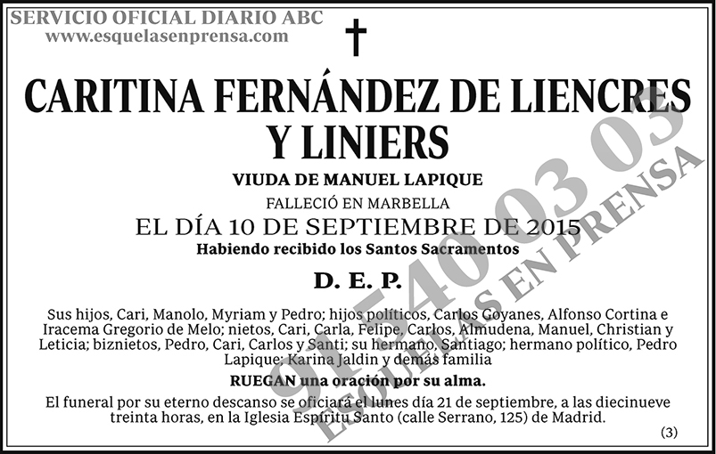 Caritina Fernández de Liencres y Liniers